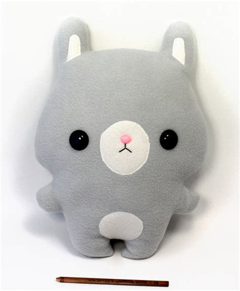 How To Make Handmade Soft Toys - plushie pillow bunny rabbit 15 quot soft doll large