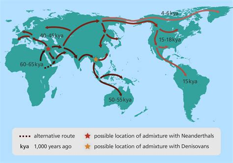 migration map evolution of modern humans stories yourgenome org