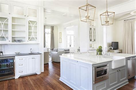 white kitchen cabinets with eclipse mullion k i t c h kitchen island fitted with microwave and dishwasher