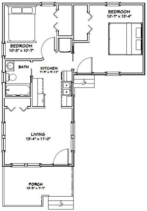 14x32 Cabin Plans by 14x32 Tiny House 14x32h1h 643 Sq Ft Excellent