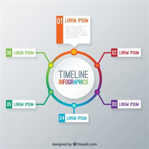 graphics template timeline infographic template vector free