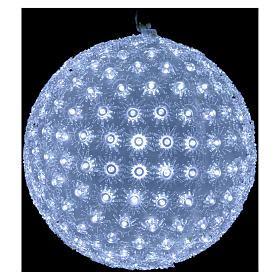 freddo interno luce natalizia sfera 20 cm led bianco freddo interno ed