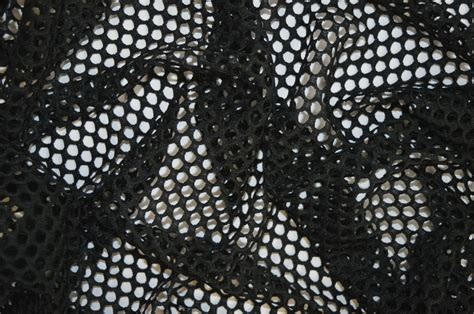 fabric pattern with holes black fish net airtex mesh fabric polyester lycra stretch