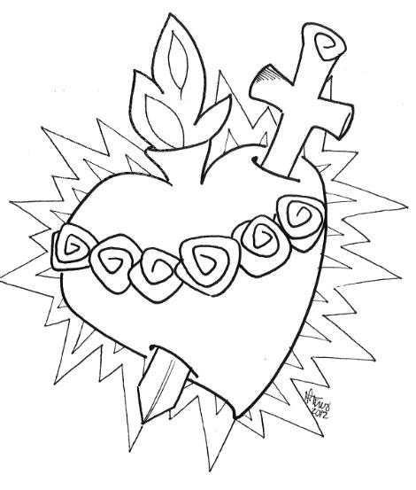 imagenes religiosas hechas a lapiz corazones de jesus y maria www evangelizacioncatolica