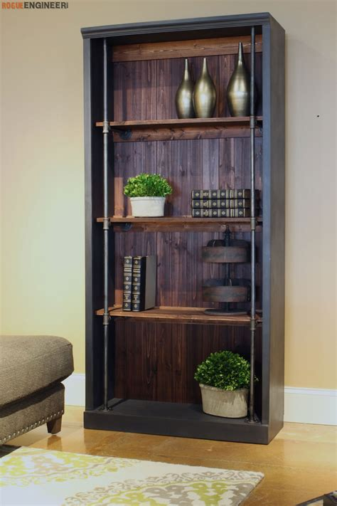 industrial bookcase free diy plans rogue engineer