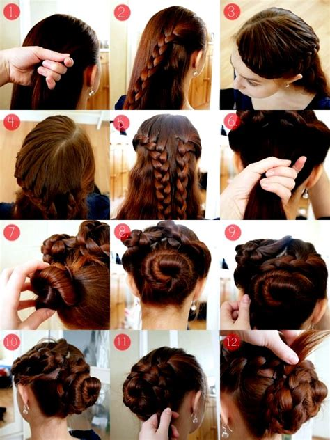 hairstyles for curly hair step by step simple hairstyles for long hair step by instructions