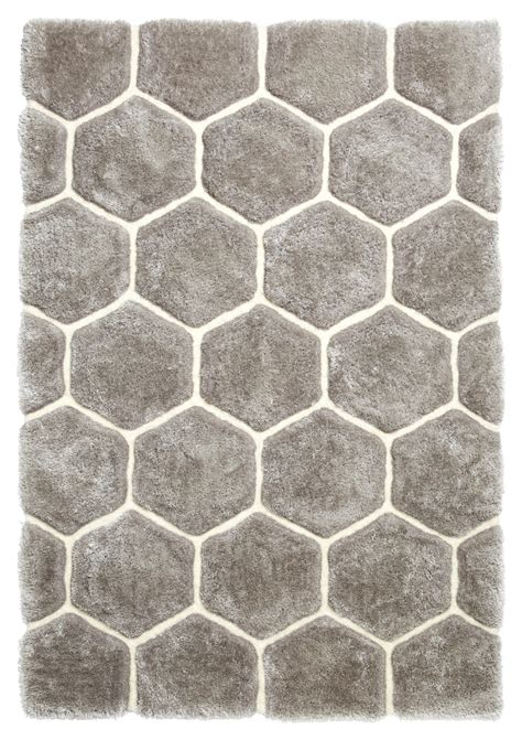 hexagon rugs grey white hexagon rug soft shaggy pile noble house honeycomb floor mat