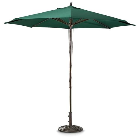 Patio Market Umbrellas Guide Gear 9 Ft Market Umbrella 173440 Patio Umbrellas At Sportsman S Guide