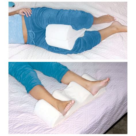 Knee Pillow For Knee by Leg Wedge Pillow Memory Foam Contour Leg Pillow That
