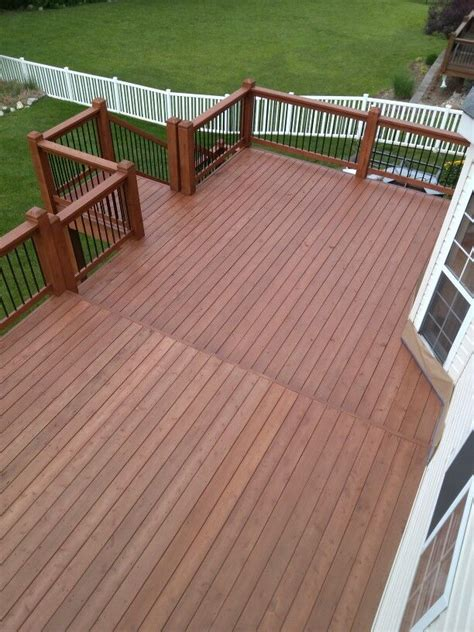 cedar deck after sherwin williams deckscapes stain cider mill sw3512 decks