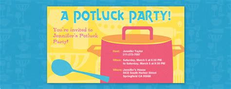 potluck free online invitations