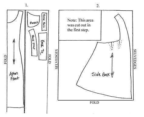 free sewing pattern victorian apron edwardian apron pattern instructions sewfun pinterest