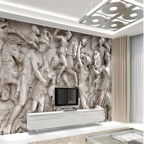 custom photo wallpaper 3d european statues wallpaper restaurant retro sofa backdrop 3d
