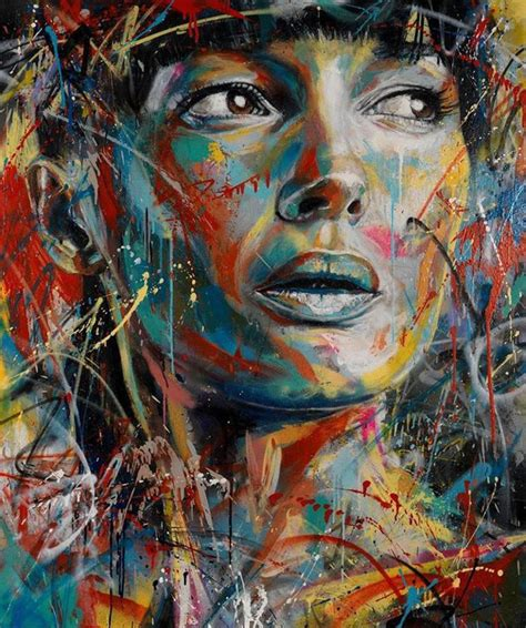 painting artist the explosively colorful spray paint portraits of david