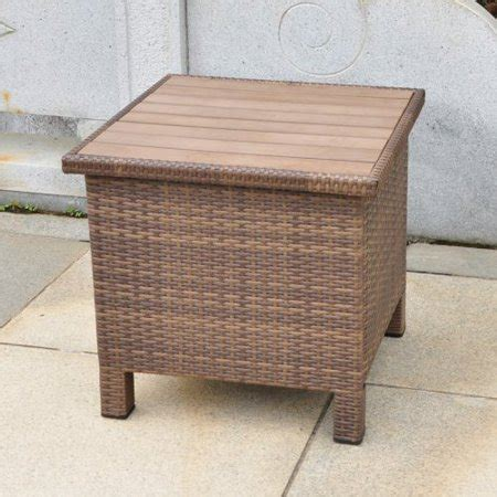 patio side table walmart wicker resin aluminum patio side table with storage