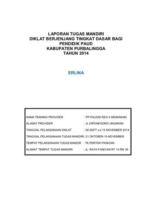 laporan akhir tugas mandiri diklat berjenjang paud tk