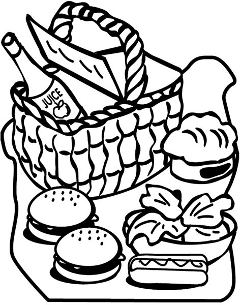 picnic blanket coloring page coloring pages