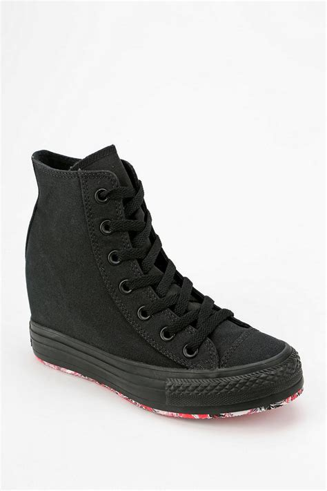 all black sneaker wedges converse high top wedge sneakers 28 images nwob