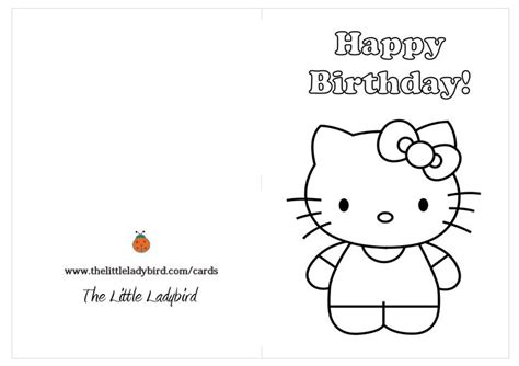 birthday card templates hello hello birthday card printable free coloring pages