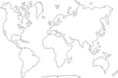Outline Of Continent by Continents Cut And Paste Puzzle Map With Just The Outline Of Each Continent You Can Find