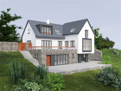 home design ideas ireland split level bungalow with gable roof and dormer windows