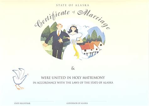 Birth Records Alaska Heirloom Marriage Certificate Tenakee Wedding Rie Munoz