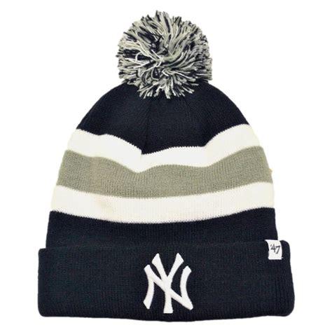 new york knit hats 47 brand new york yankees mlb breakaway knit beanie hat