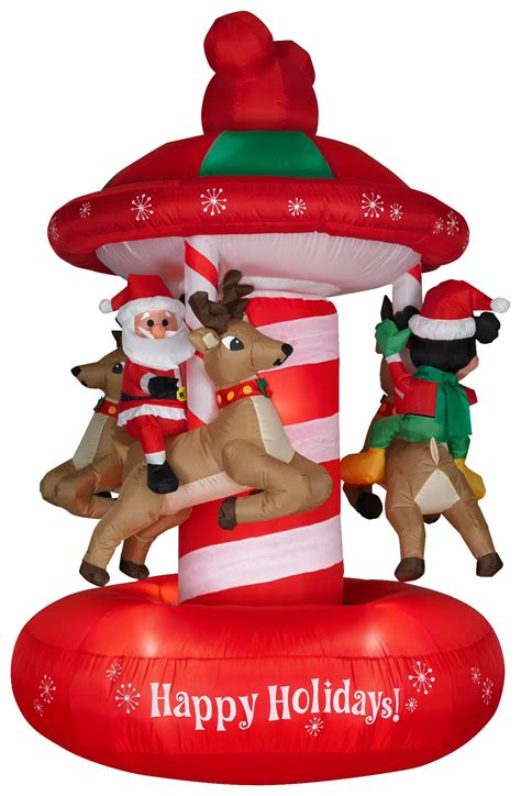 disney animated airblown mickey carousel