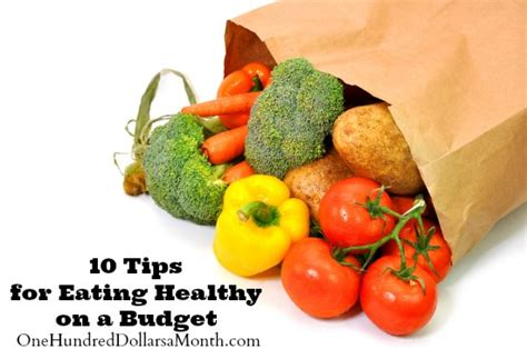 Cheap And Easy Tips For A Healthy And Happy by 10 Tips For Healthy On A Budget