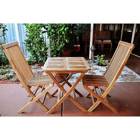 Teak Bistro Set Outdoor Furniture Peenmedia Com Teak Patio Furniture Sets