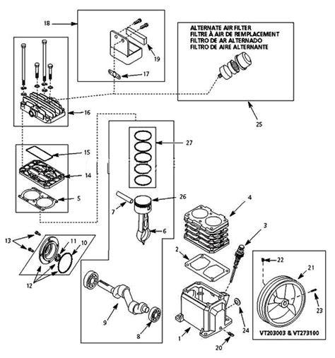 Vt470000aj Vt471400aj Campbell Hausfeld Pump Parts