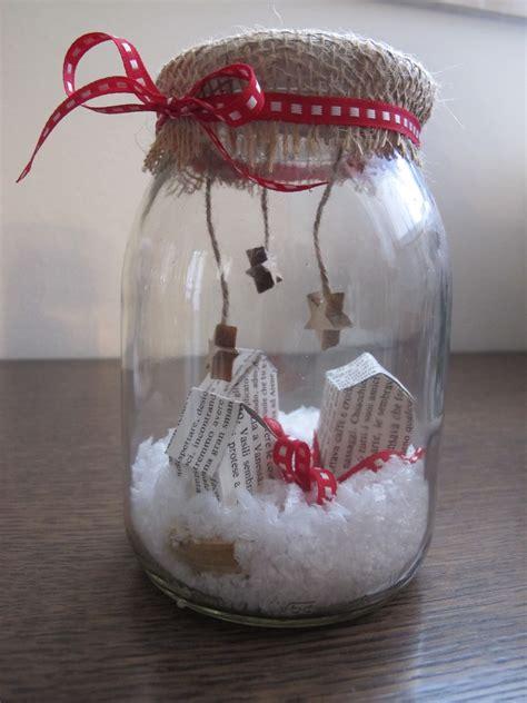 vasi natalizi barattoli di vetro con decorazioni natalizie progetti da
