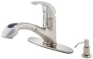 melrose single handle kitchen faucet:  stainless steel single handle kitchen faucet with pullout spray fr