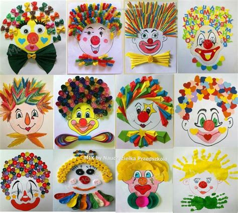 fasching basteln kinder clown basteln fasching clown basteln