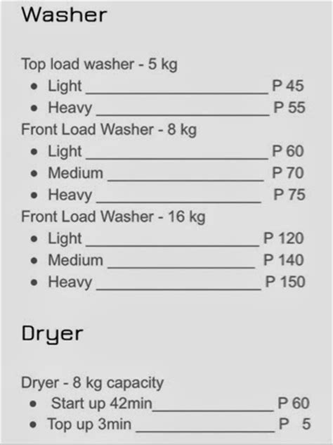 Laundry Mat Prices by Coin Laundry In Cagayan De Oro Cdo Encyclopedia