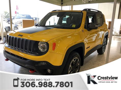 jeep sunroof 2017 jeep renegade trailhawk 4x4 leather sunroof