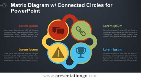 matrix diagram  connected circles  powerpoint
