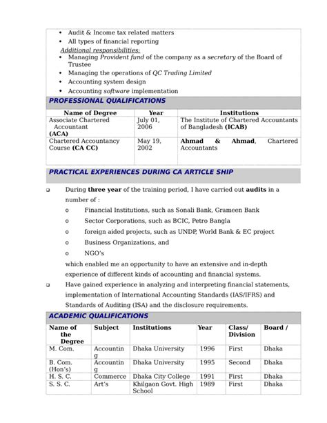 Financial Reporting Manager Sle Resume by Modern Financial Reporting Manager Resume Template Page 2