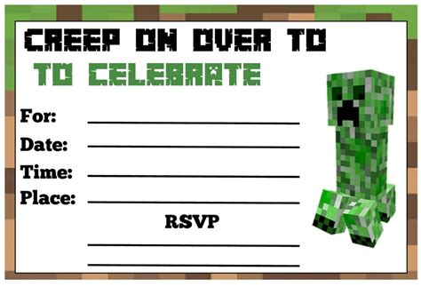 minecraft birthday invitation sample invitations online