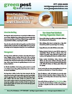 bed bug checklist bed bugs facts and checklist green pest solutions
