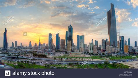 kuwait city kuwait city modern city skyline and central business