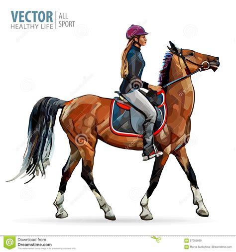 cavallo clipart donna e cavallo illustrazioni vettoriali e clipart stock