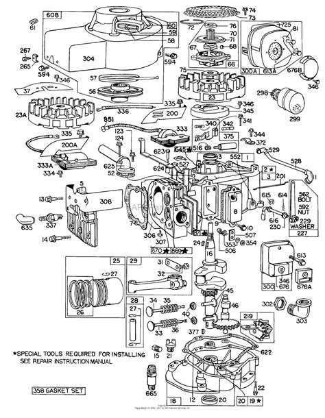 parts diagram for briggs stratton engine briggs and stratton 100902 0275 99 parts diagram for