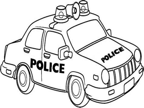 police van pages coloring pages