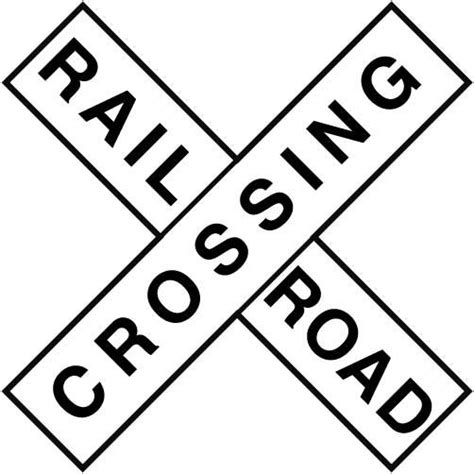 printable railroad signs 8 best images of printable railroad crossing sign train