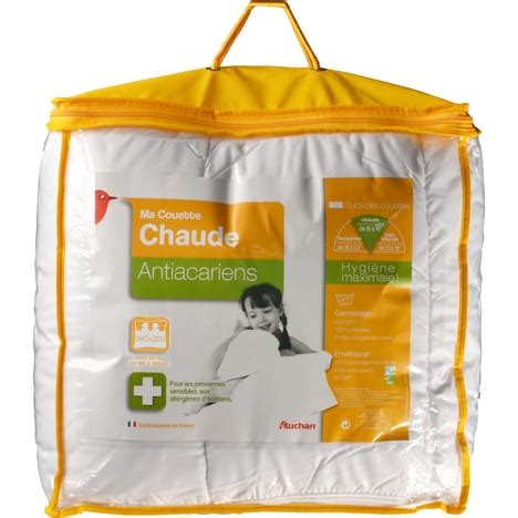 Auchan Couette by Couette Chaude Anti Acariens 400g M 178 Auchan Pas Cher 224
