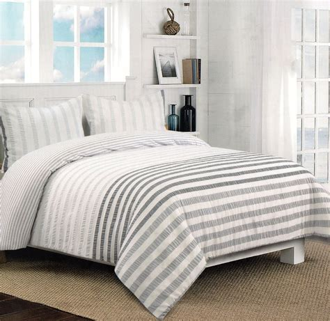 nicole miller comforter nicole miller grey white gray seersucker full queen 3pc