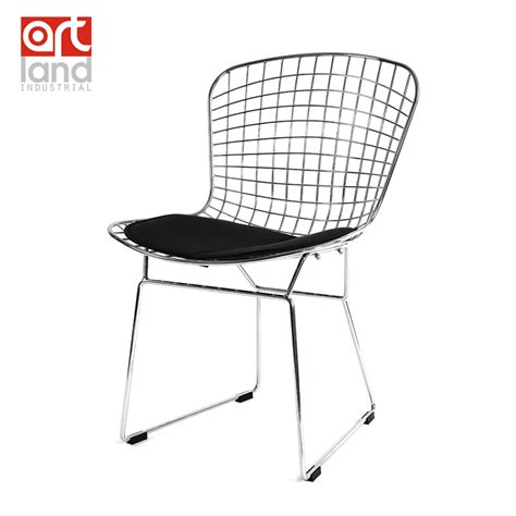 Metal Wire Dining Chairs by Metal Wire Side Chair With Seat Cushion High Quality White