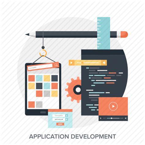 application design vector app application coding design development program