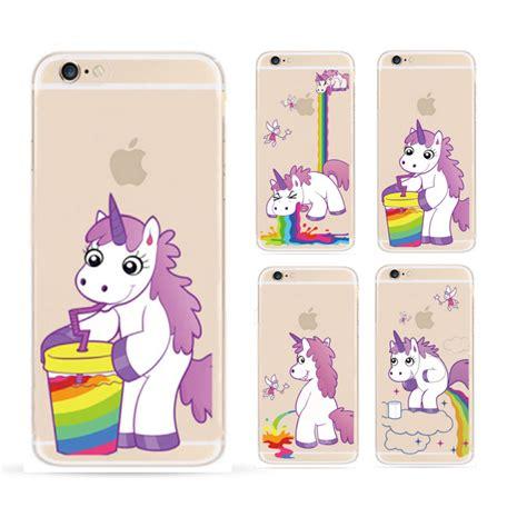 Motif Hippo Casing Iphone 5 hippo rainbow unicorn transparent phone cases for apple iphone 6 6s plus design